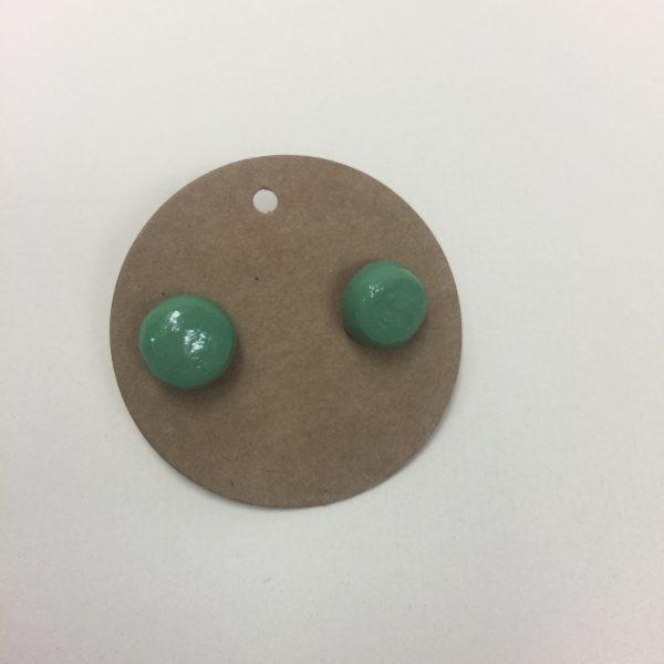 Uhani zeleni okrogli