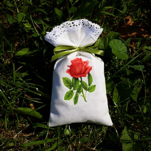 Dišeča vrečka s sivko potisk vrtnica