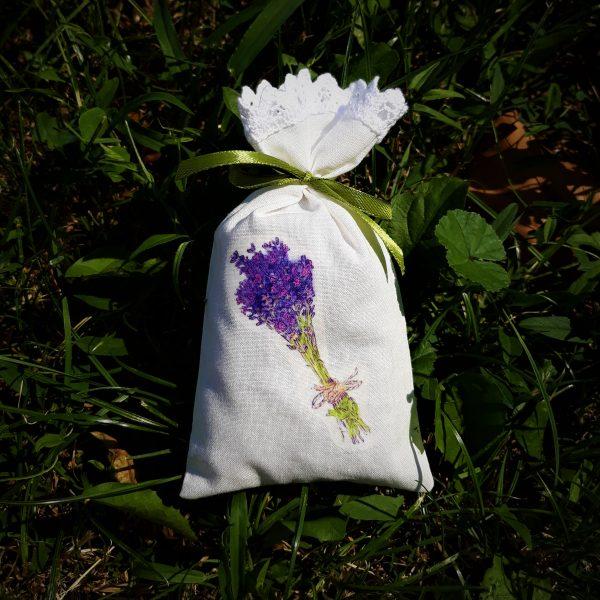 Dišeča vrečka s sivko potisk s sivko