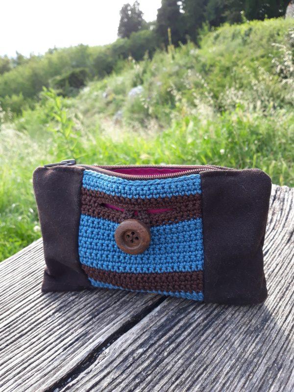 Kvačkana torbica- modra
