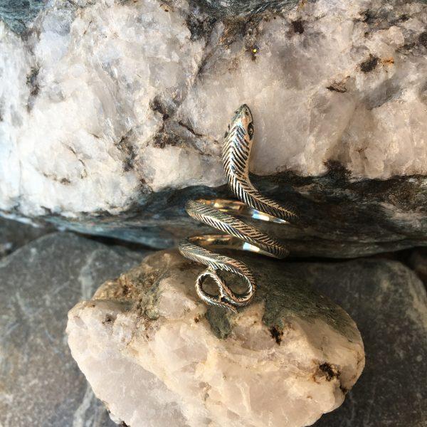 Srebrn Kačji prstan